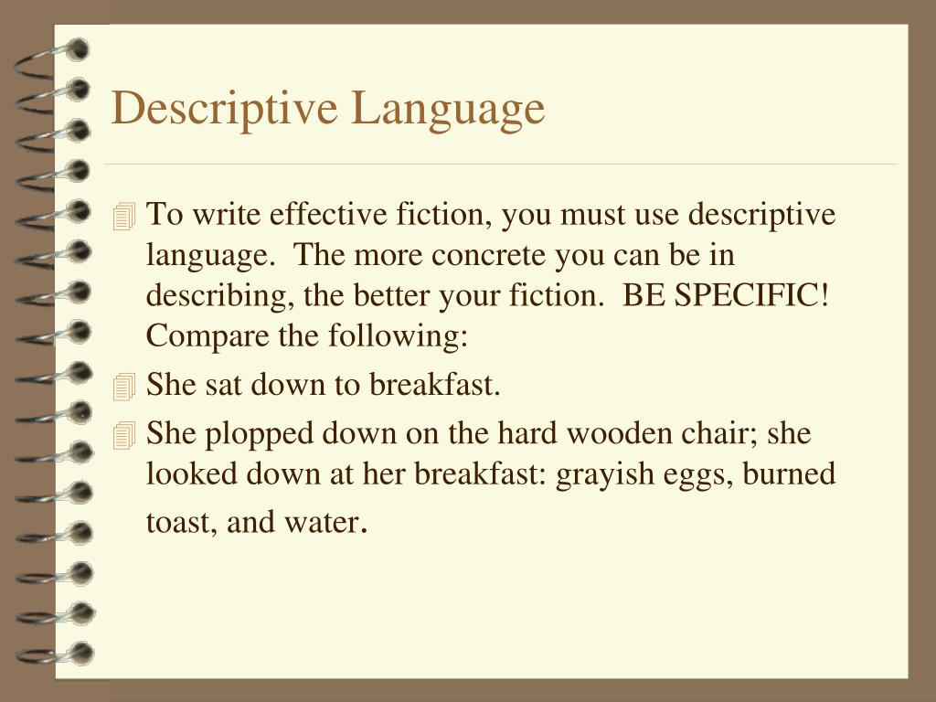 Descriptive Language