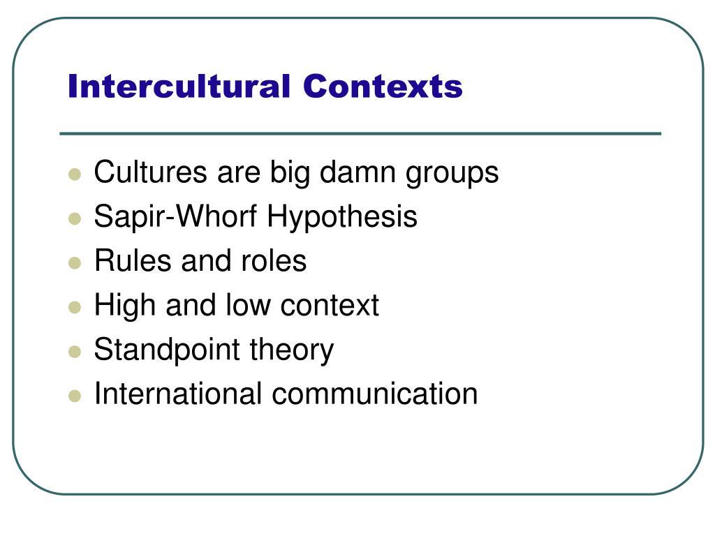 Intercultural Contexts