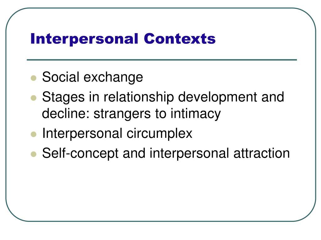 Interpersonal Contexts