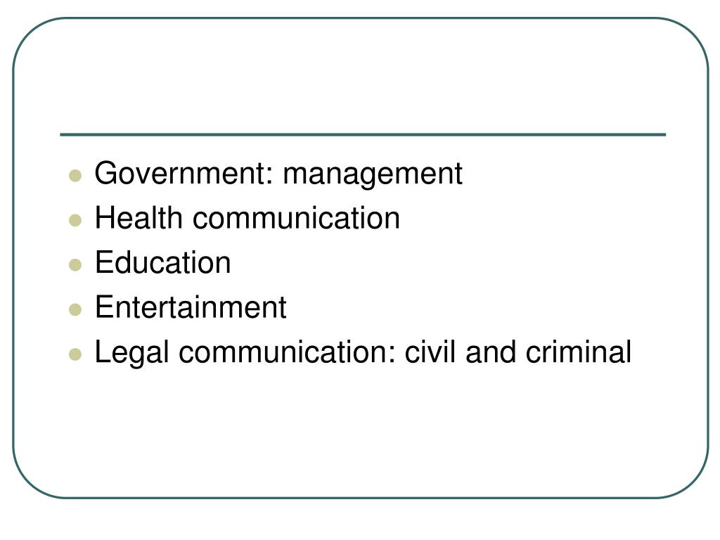 Government: management