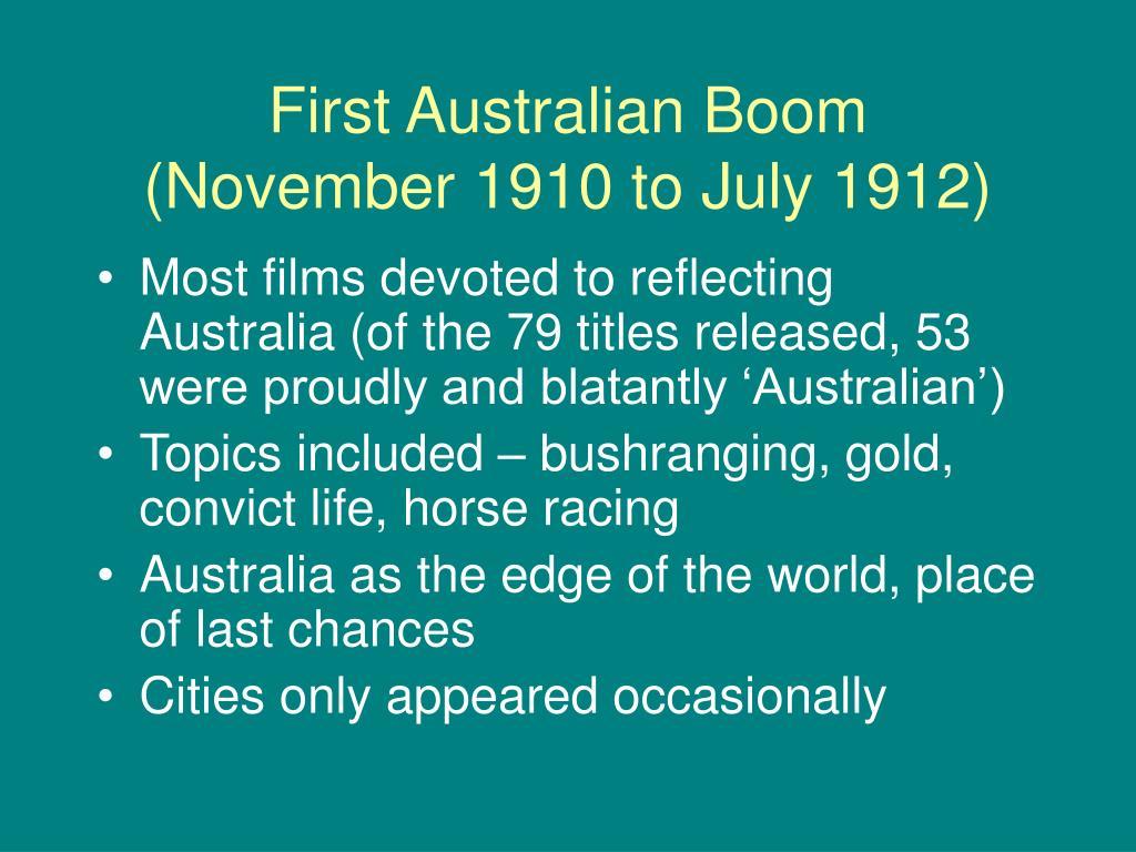 First Australian Boom