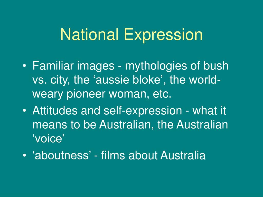 National Expression