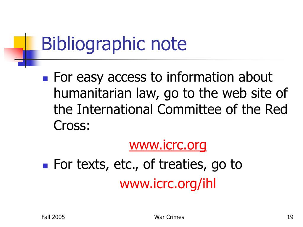 Bibliographic note