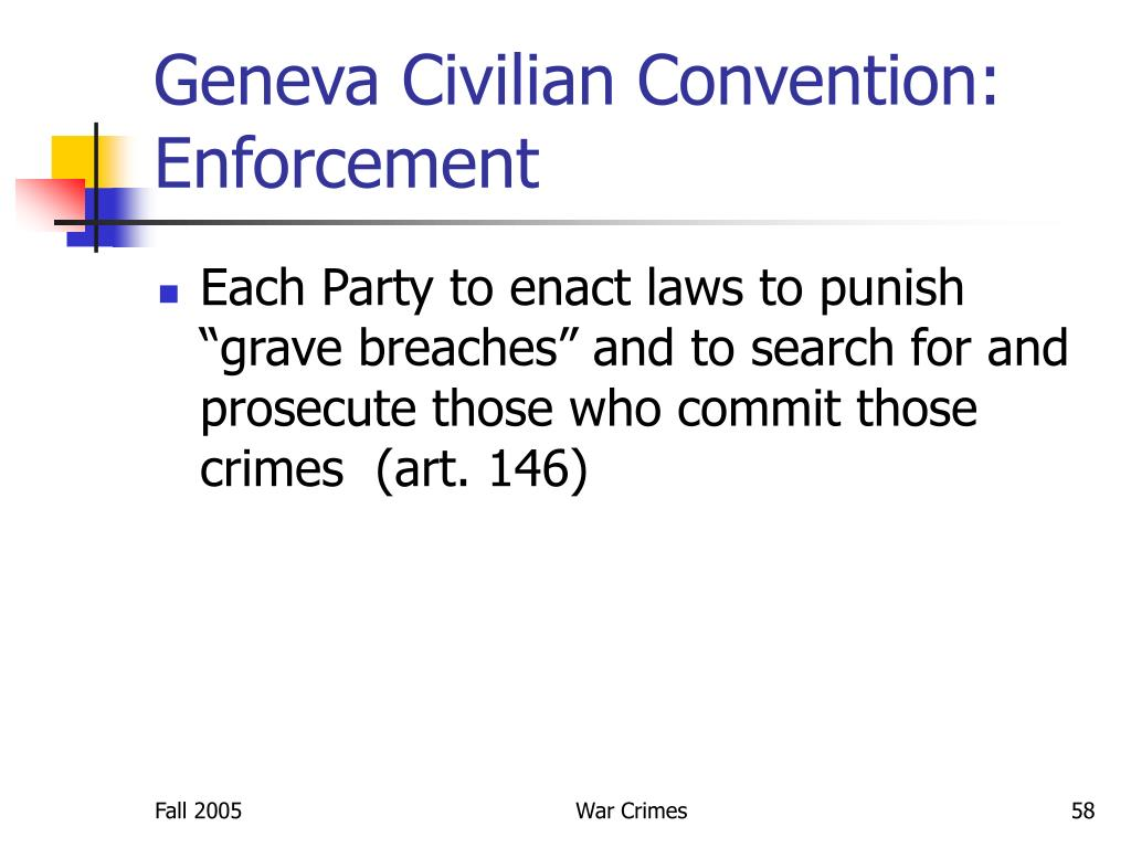 Geneva Civilian Convention: