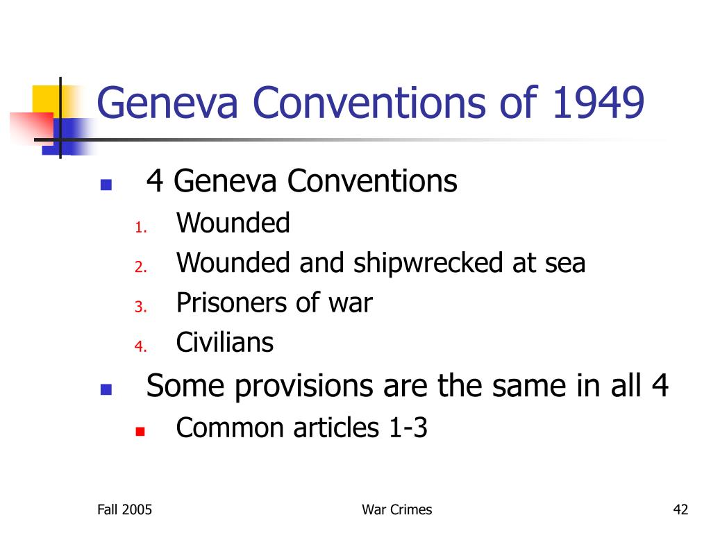 Geneva Conventions of 1949
