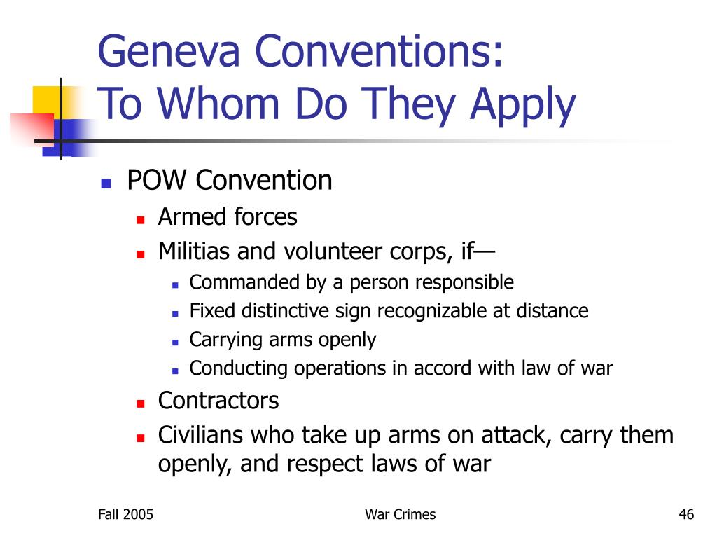Geneva Conventions: