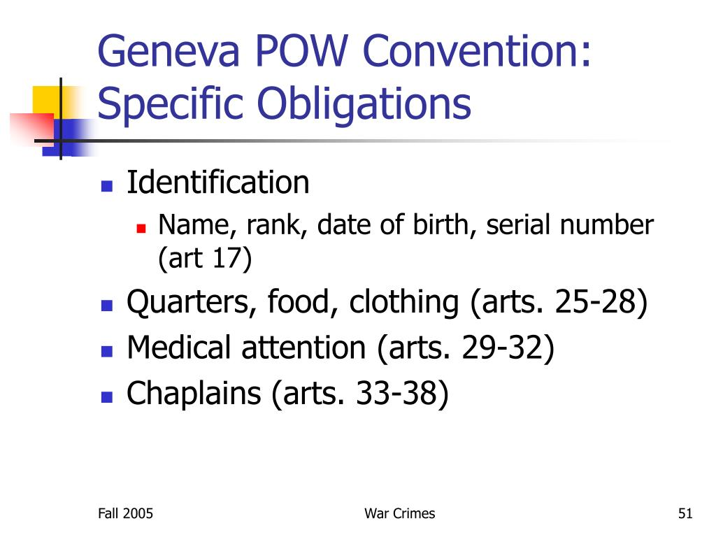 Geneva POW Convention: