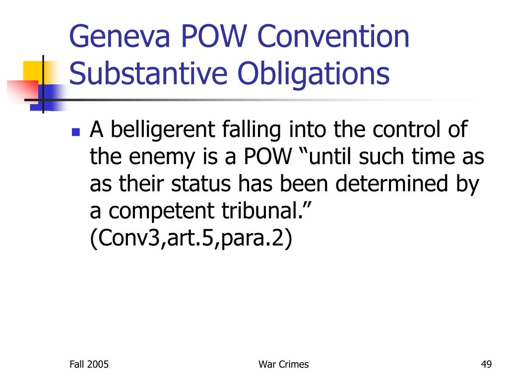 Geneva POW Convention
