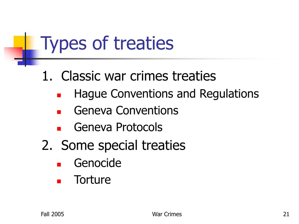 Types of treaties