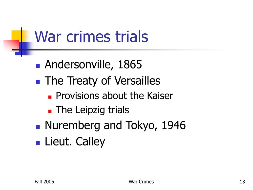 War crimes trials