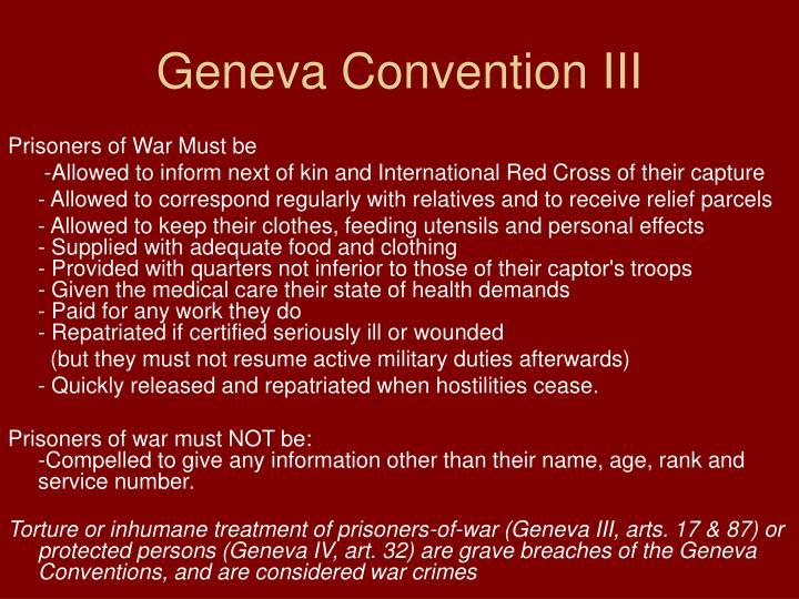 Geneva Convention III