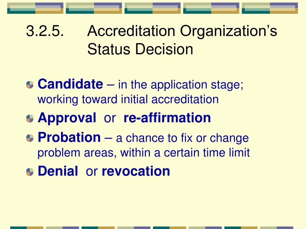 3.2.5. Accreditation Organization's