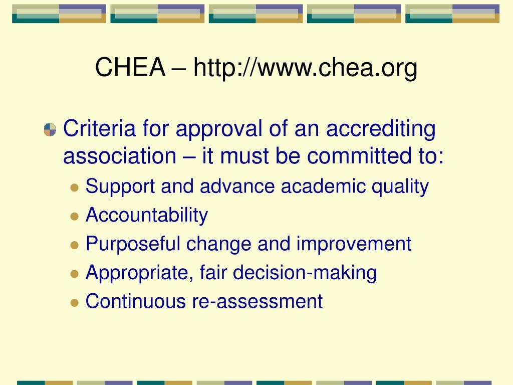 CHEA – http://www.chea.org