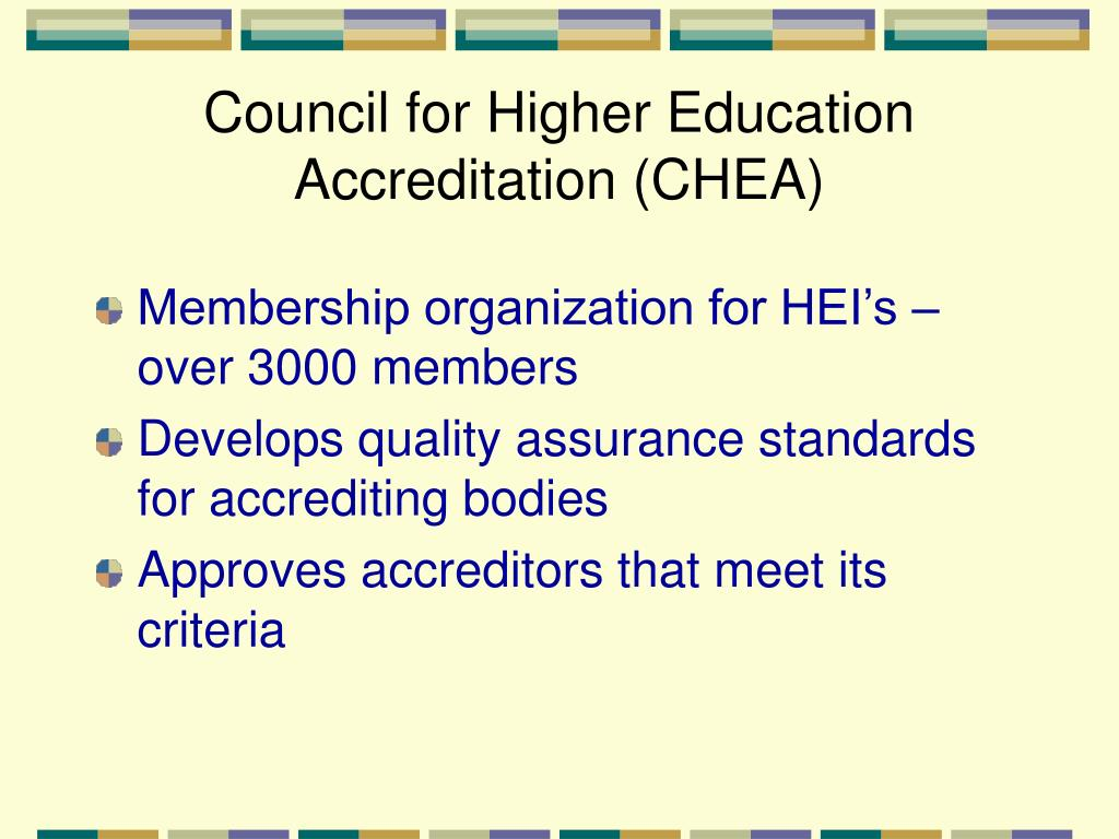 Council for Higher Education Accreditation (CHEA)