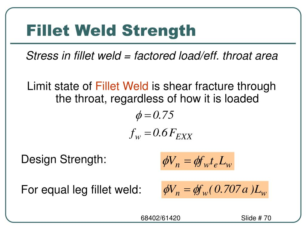Fillet Weld Strength