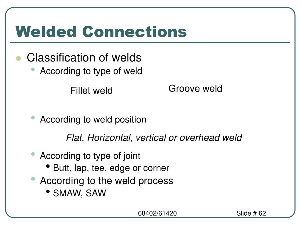 Welded Connections