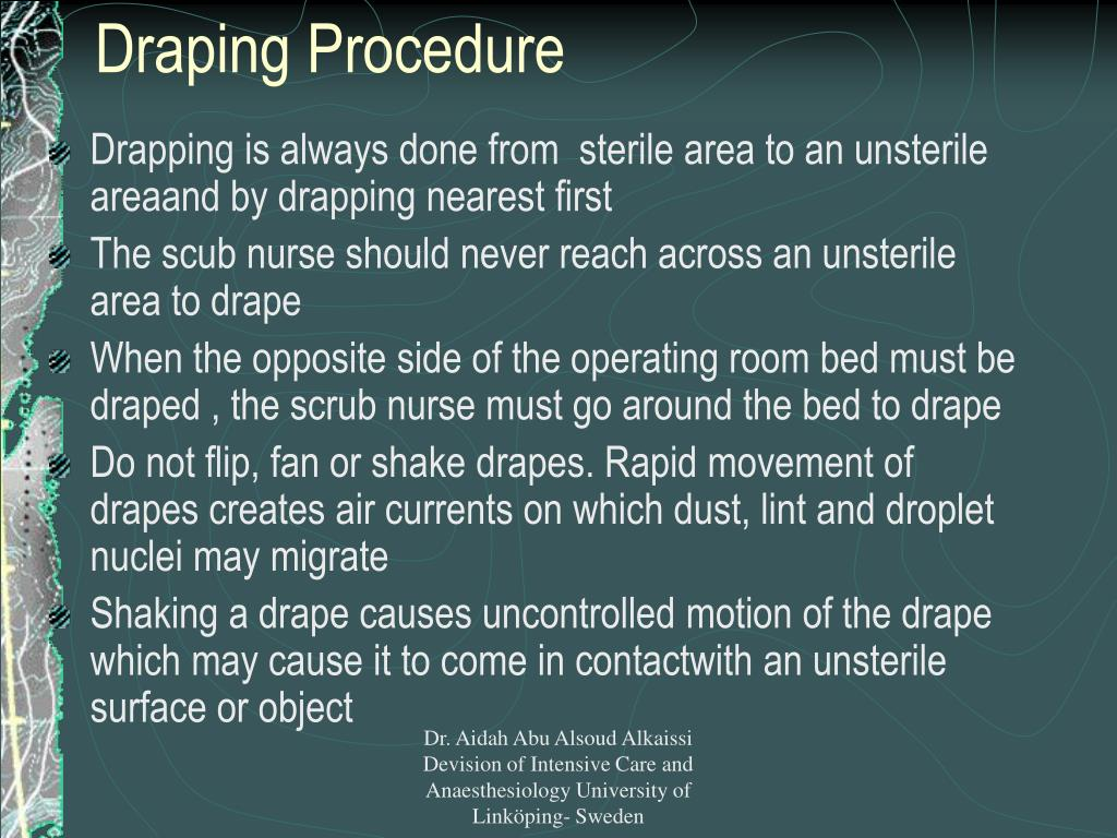 Draping Procedure