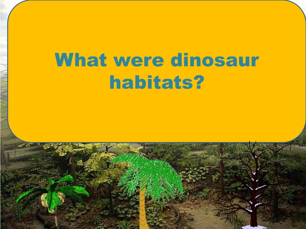 What were dinosaur habitats?