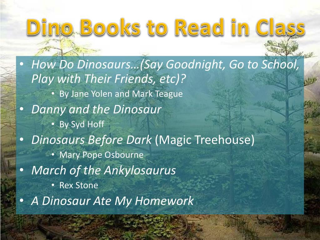 Dino Books to Read in Class