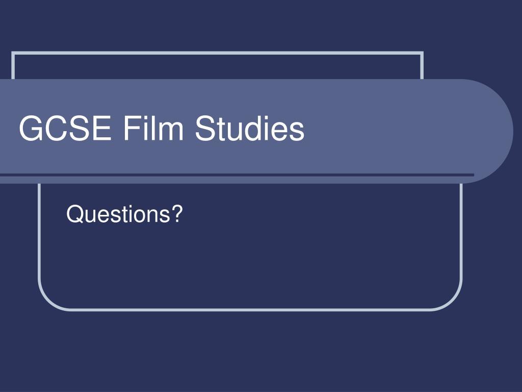GCSE Film Studies