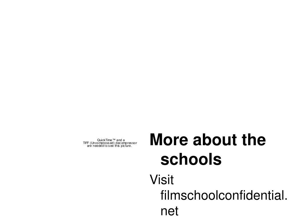 More about the schools