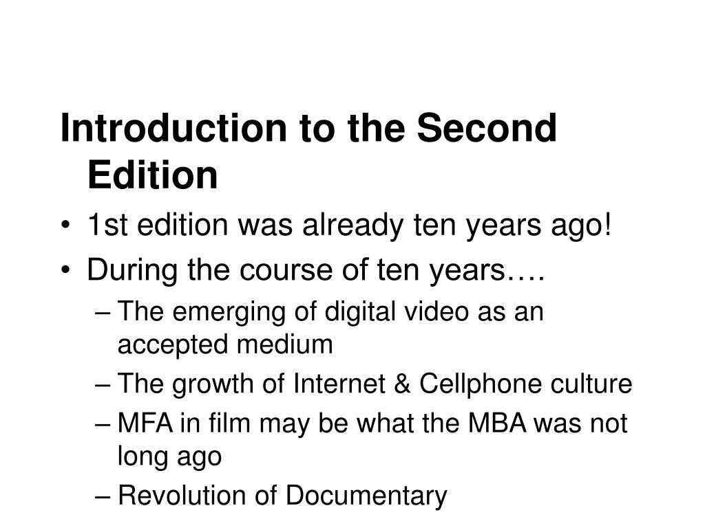 Introduction to the Second Edition