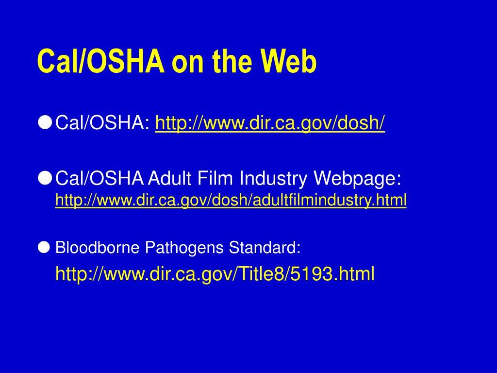 Cal/OSHA on the Web
