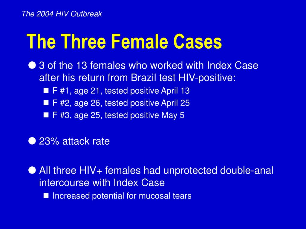 The 2004 HIV Outbreak