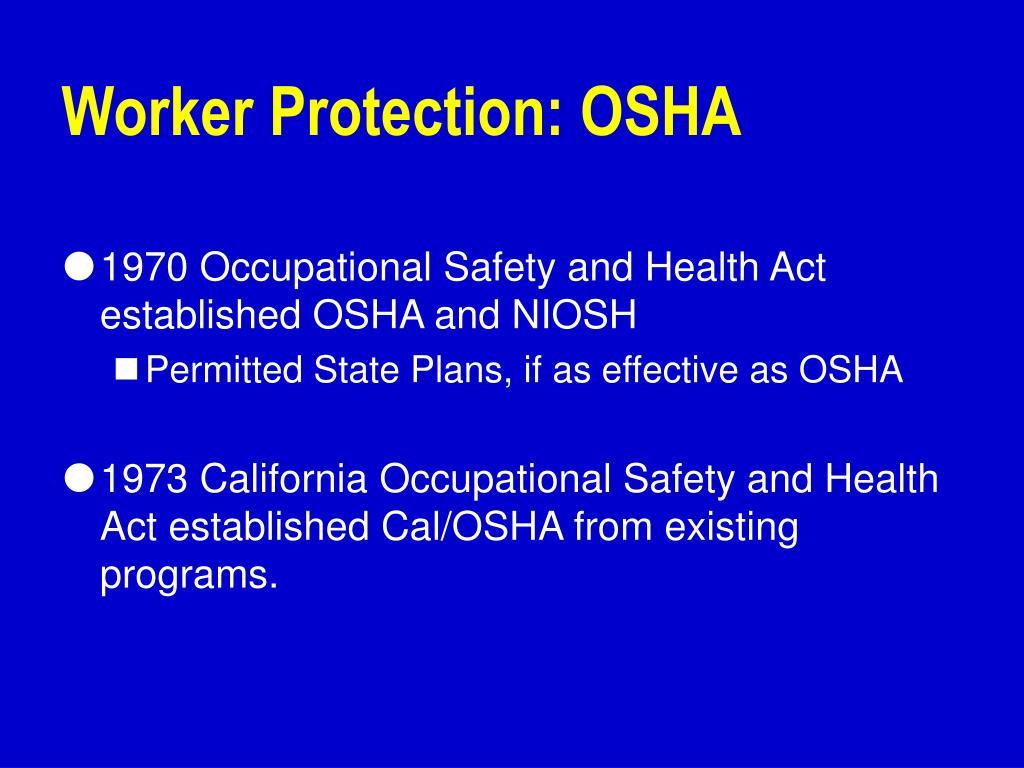 Worker Protection: OSHA