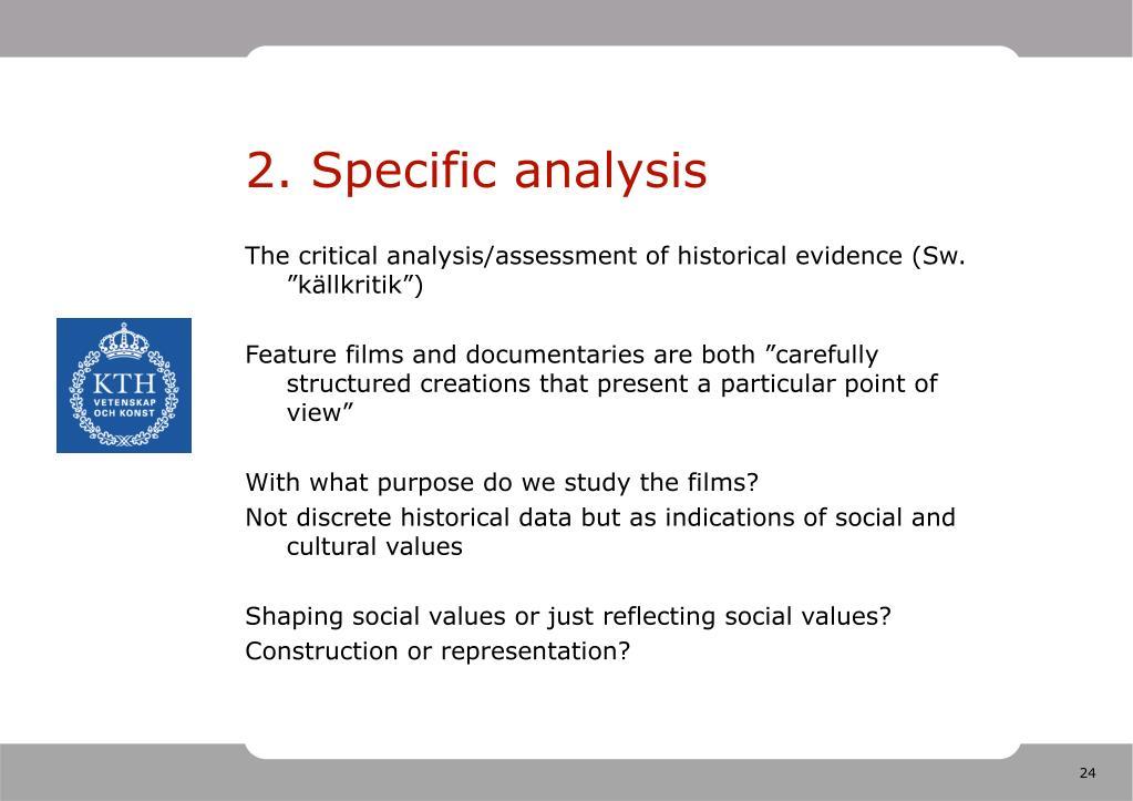2. Specific analysis
