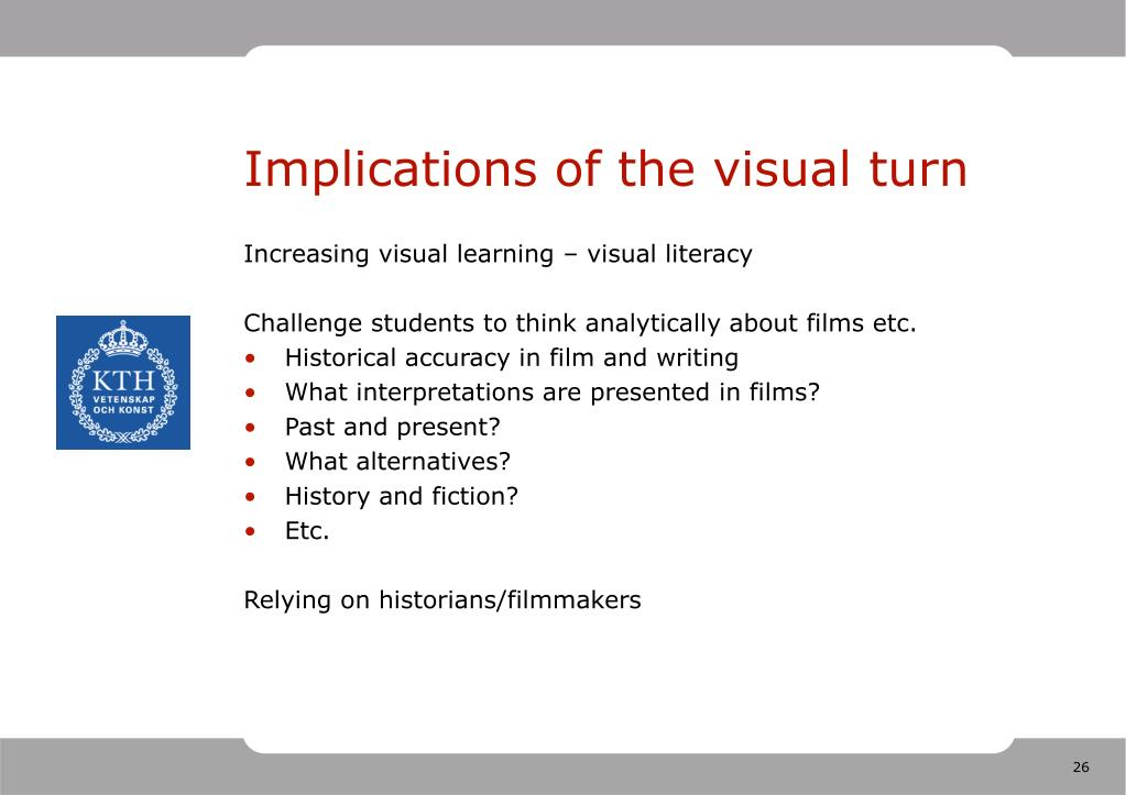 Implications of the visual turn