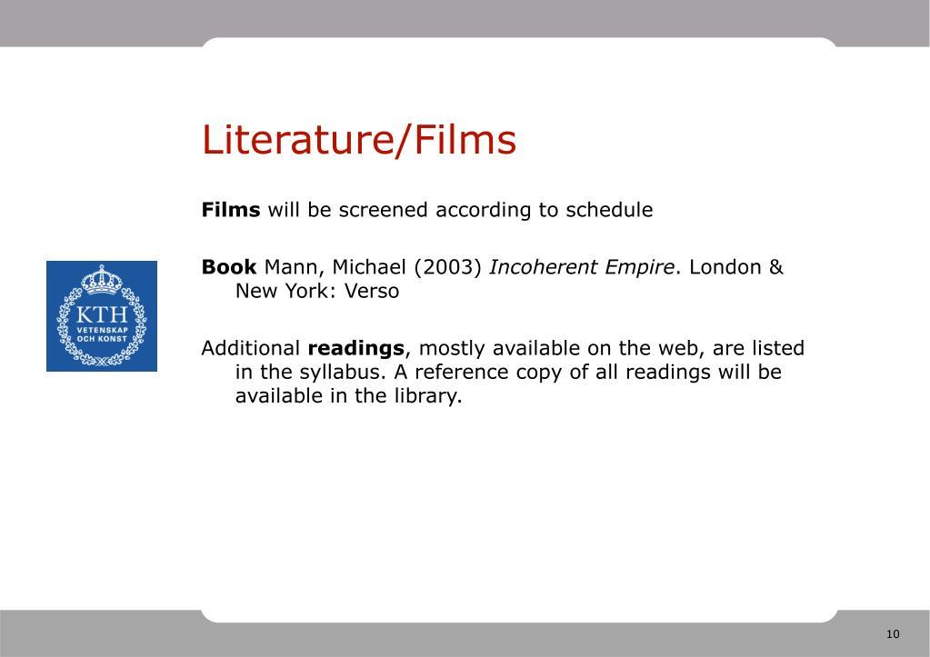 Literature/Films