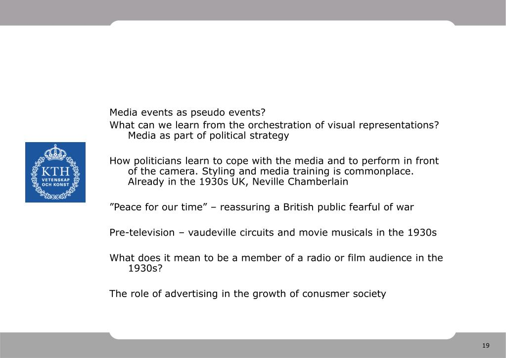 Media events as pseudo events?