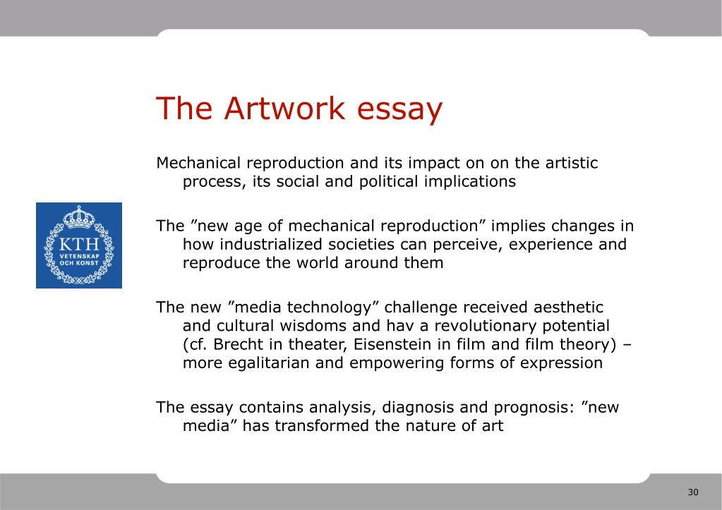 The Artwork essay