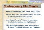 contemporary film trends