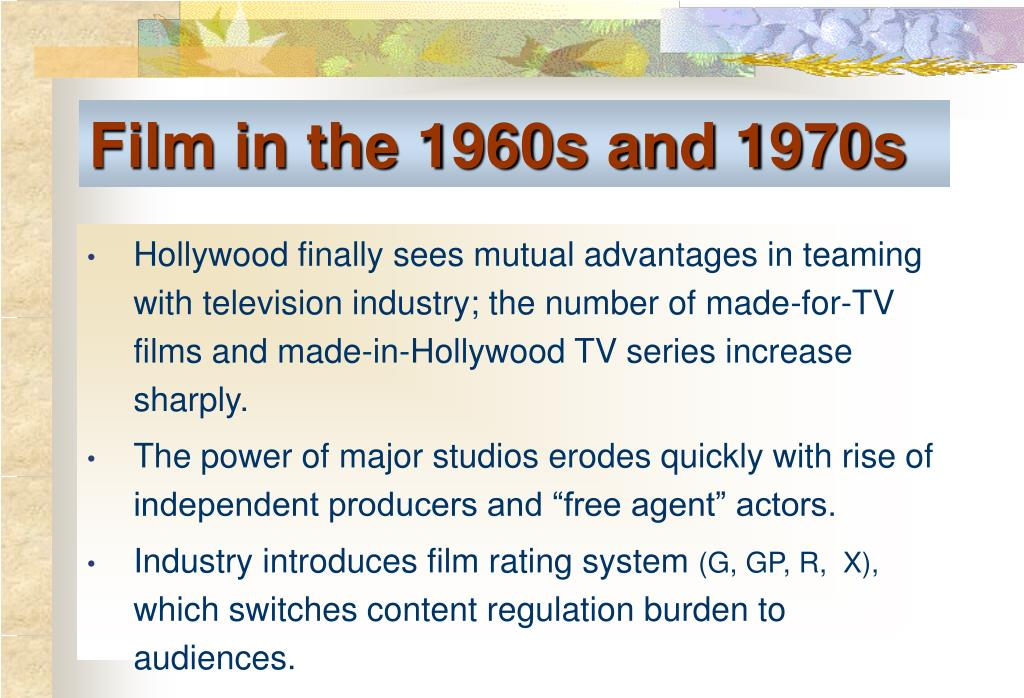 Film in the 1960s and 1970s