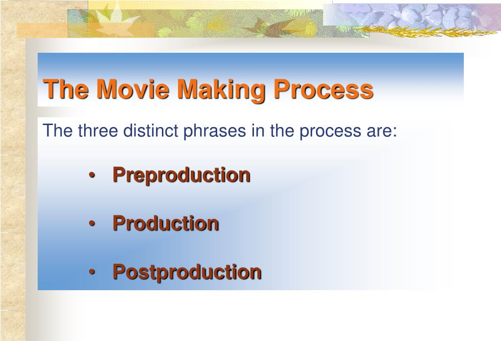 The Movie Making Process