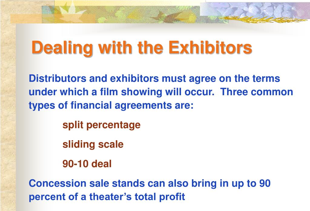 Dealing with the Exhibitors