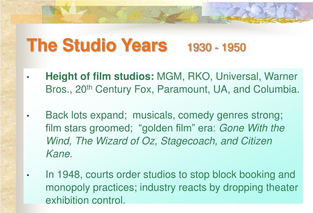 The Studio Years