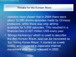 threats for the korean wave15
