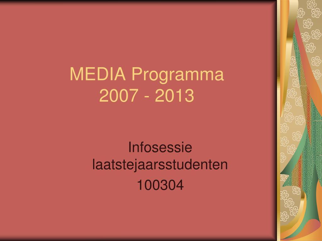 MEDIA Programma