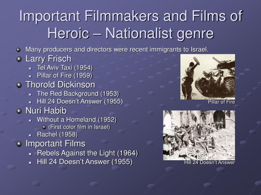 Important Filmmakers and Films of Heroic – Nationalist genre