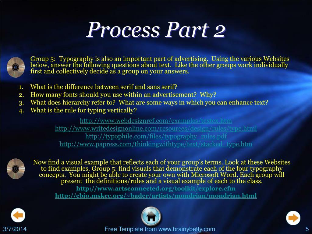 Process Part 2