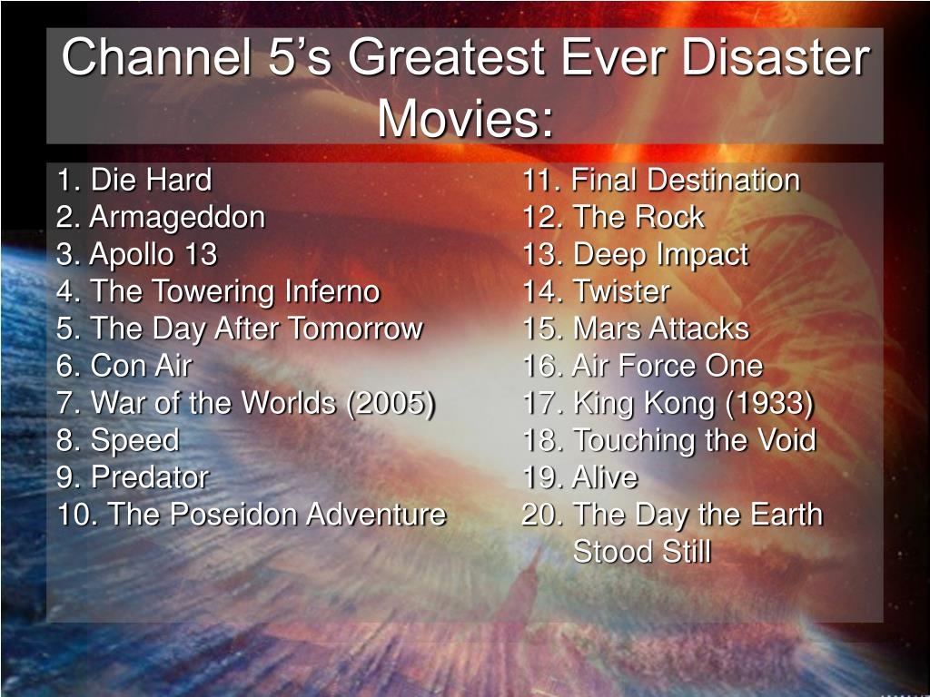Channel 5's Greatest Ever Disaster Movies: