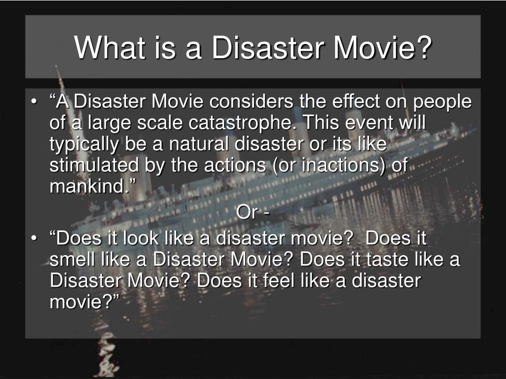 What is a Disaster Movie?