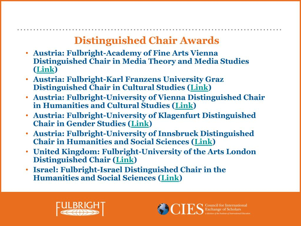 Distinguished Chair Awards