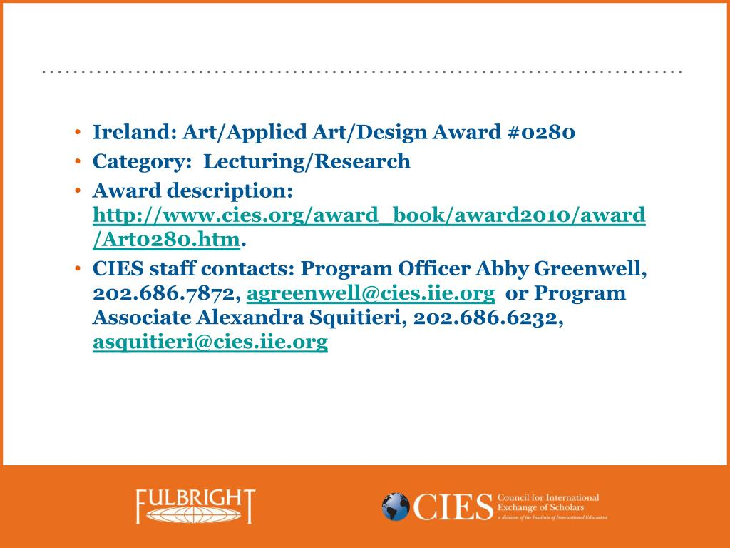 Ireland: Art/Applied Art/Design Award #0280