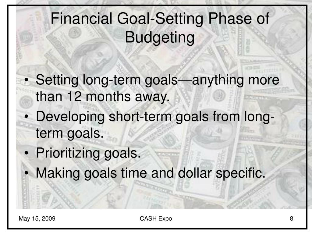 Financial Goal-Setting Phase of Budgeting
