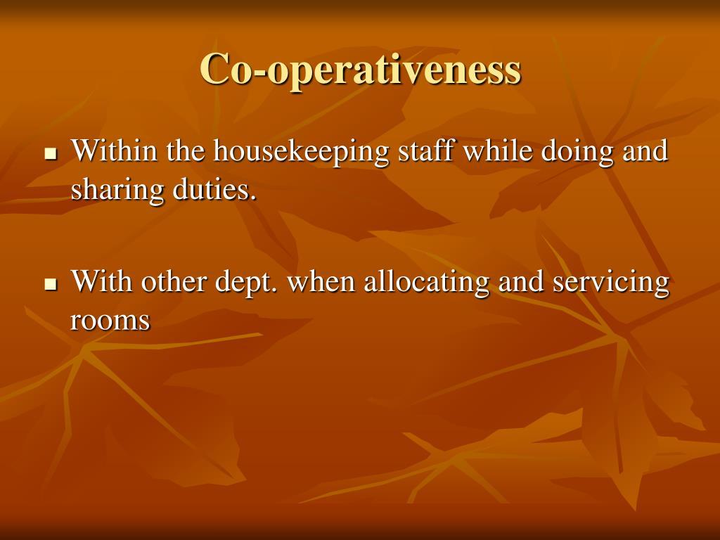 Co-operativeness