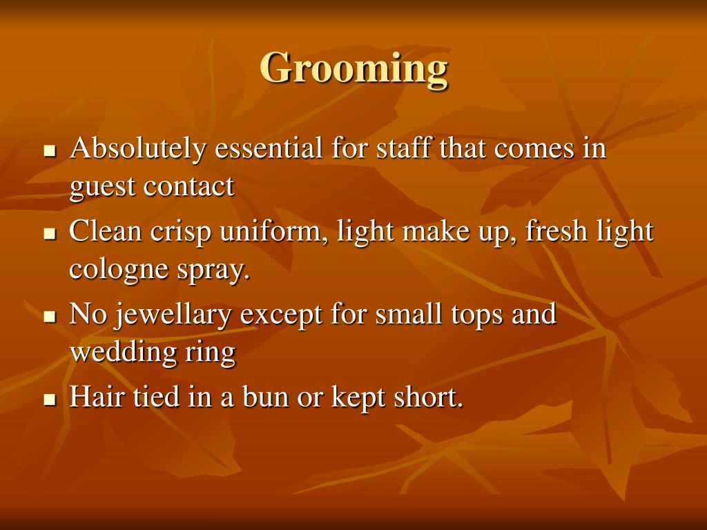 housekeeping personal grooming Personal hygiene is keeping the body clean, and helps prevent the spread of germs grooming is caring for fingernails and hair examples of these activities would be.